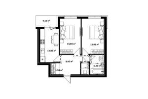 Продается 2-комнатная квартира 57.1 кв. м в Ужгороде