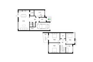 Продается дом на 2 этажа 158 кв. м с участком