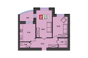 Продается 2-комнатная квартира 64.48 кв. м в Хмельницком