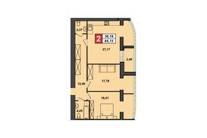 Продается 2-комнатная квартира 85.73 кв. м в Хмельницком