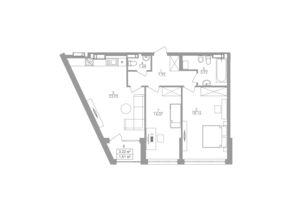 Продается 2-комнатная квартира 73.4 кв. м в Киеве