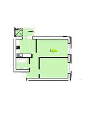 Продається 2-кімнатна квартира 54.8 кв. м у Тернополі