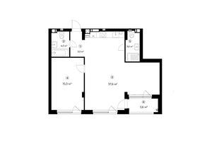 Продається 1-кімнатна квартира 65 кв. м у Ірпені