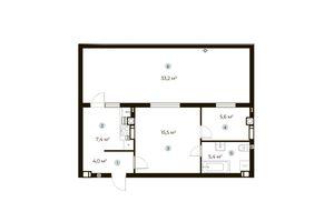 Продается 1-комнатная квартира 47.9 кв. м в Ирпене