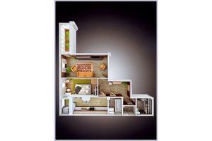 Продається 2-кімнатна квартира 64.9 кв. м у Херсоні