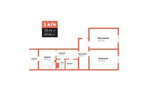 Продается 2-комнатная квартира 67.45 кв. м в Николаеве