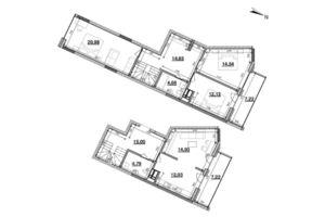 Продается 4-комнатная квартира 124.47 кв. м в Киеве