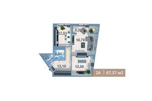 Продается 2-комнатная квартира 67.13 кв. м в Киеве