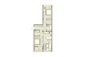 Продается 2-комнатная квартира 87.7 кв. м в Обухове