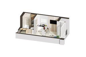 Продается 1-комнатная квартира 26.13 кв. м в Ирпене