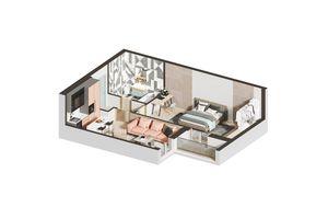 Продается 1-комнатная квартира 48.94 кв. м в Ирпене