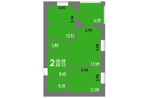 Продается 2-комнатная квартира 58.12 кв. м в Николаеве