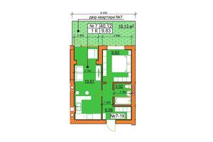 Продається 1-кімнатна квартира 39 кв. м у Ірпені