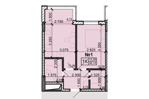 Продається 1-кімнатна квартира 39.13 кв. м у Одесі