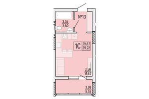 Продається 1-кімнатна квартира 29.22 кв. м у Одесі
