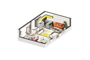 Продается 2-комнатная квартира 55.5 кв. м в Ирпене