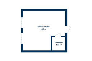 Продается 1-комнатная квартира 29.93 кв. м в Киеве