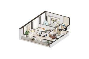 Продається 2-кімнатна квартира 77.34 кв. м у Ірпені
