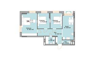 Продается 3-комнатная квартира 71.74 кв. м в Вышгороде