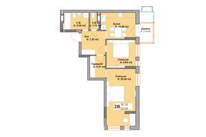 Продается 2-комнатная квартира 61.06 кв. м в Вышгороде