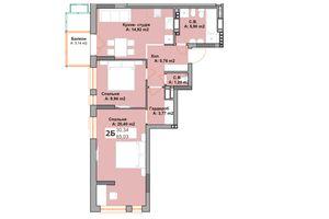 Продается 2-комнатная квартира 63.46 кв. м в Вышгороде