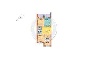 Продається 3-кімнатна квартира 79.97 кв. м у Києві