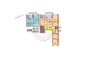 Продается 3-комнатная квартира 119.5 кв. м в Киеве