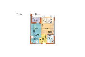 Продается 1-комнатная квартира 41.68 кв. м в Киеве