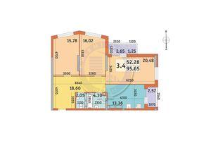 Продается 3-комнатная квартира 95.65 кв. м в Киеве