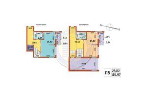 Продается 2-комнатная квартира 115.97 кв. м в Киеве