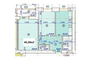 Продается 2-комнатная квартира 60.28 кв. м в Ивано-Франковске