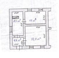 Продается 3-комнатная квартира 46 кв. м в Мурованые Куриловцы