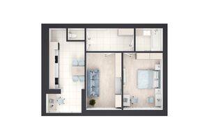 Продается 2-комнатная квартира 63 кв. м в Ровно