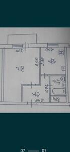Продается 1-комнатная квартира 36 кв. м в Черкассах