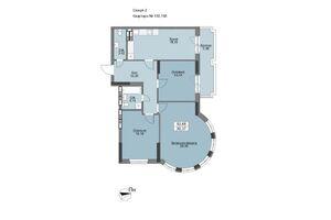 Продается 3-комнатная квартира 94.37 кв. м в Вышгороде