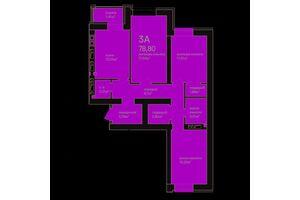 Продается 3-комнатная квартира 79.2 кв. м в Ирпене