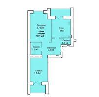 Продается 2-комнатная квартира 58.9 кв. м в Николаеве