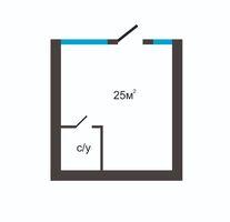 Продается офис 25 кв. м в нежилом помещении в жилом доме