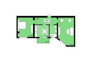 Продается 2-комнатная квартира 66.8 кв. м в Черновцах