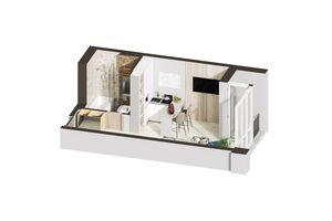 Продается 1-комнатная квартира 21.13 кв. м в Ирпене