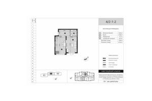Продается 1-комнатная квартира 47.42 кв. м в Киеве
