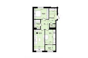 Продається 2-кімнатна квартира 70.47 кв. м у Львові