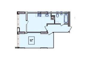 Продается 1-комнатная квартира 32.59 кв. м в Одессе