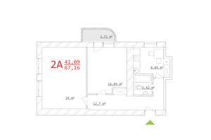 Продается 2-комнатная квартира 62.05 кв. м в Харькове