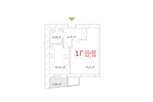 Продается 1-комнатная квартира 42.3 кв. м в Харькове