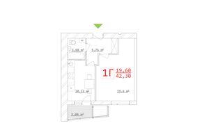 Продается 1-комнатная квартира 41.45 кв. м в Харькове