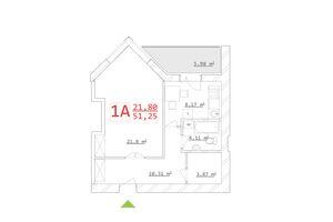 Продается 1-комнатная квартира 42.83 кв. м в Харькове
