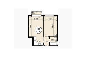 Продається 1-кімнатна квартира 44.6 кв. м у Львові
