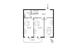 Продается офис 94.5 кв. м в нежилом помещении в жилом доме