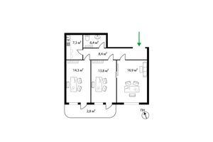 Продается офис 70 кв. м в нежилом помещении в жилом доме